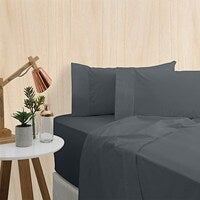 Bas Phillips Premium Bedding 400TC Bamboo Sheet Set King Bed Charcoal