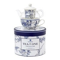 Ashdene Indigo Blue Hummingbird Bone China Tea for One 280ml/220ml