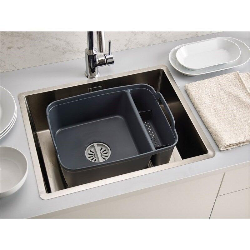 Cleaning Kitchen Sink Set Brush Sponge Soap Benchtop Kit Joseph Joseph Grey