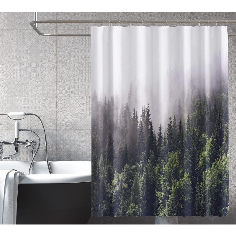 Country Club Moroccan Mink With Rings Shower Curtain Brand New Gift