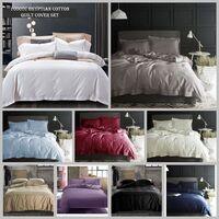 1000TC Super Soft Collection Doona Duvet Quilt Cover Set 9 Colours