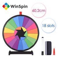 "WinSpin™ 24"" Tabletop Color Prize Wheel of Fortune 18 Slot Spin Game Tradeshow"