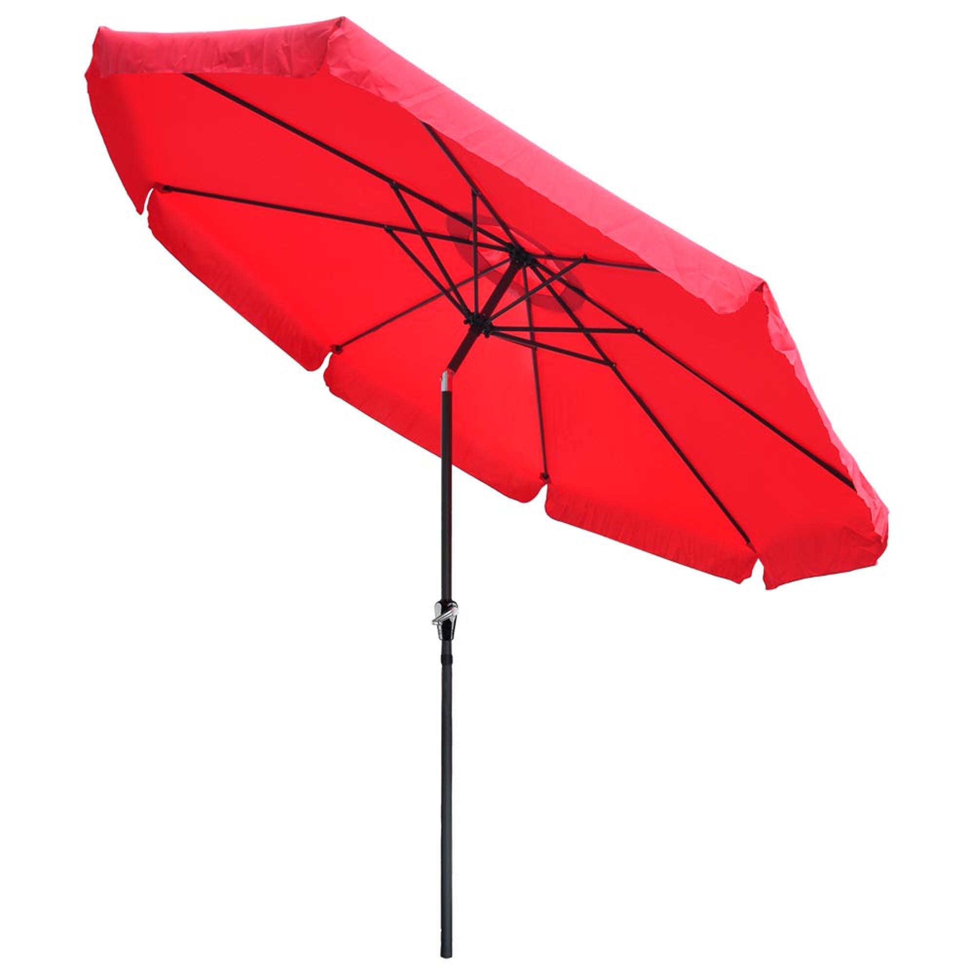 Outdoor Patio Umbrella Base Stand w//Valance Crank Tilt Sunshade Market Garden