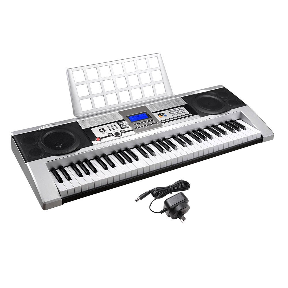 yescom 61 keys digital music electronic keyboard electric piano lcd display full size buy. Black Bedroom Furniture Sets. Home Design Ideas