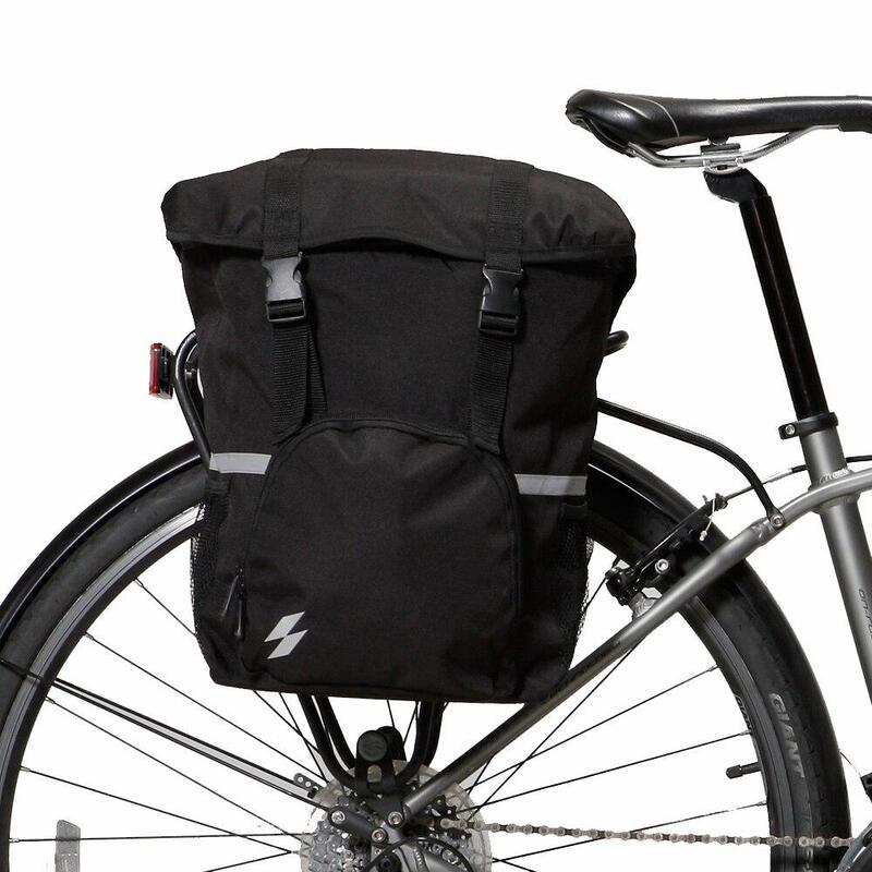 Blue Bike Rear Rack Seat Trunk Saddle Tail Storage Pannier Pouch Bag Bicycle Set