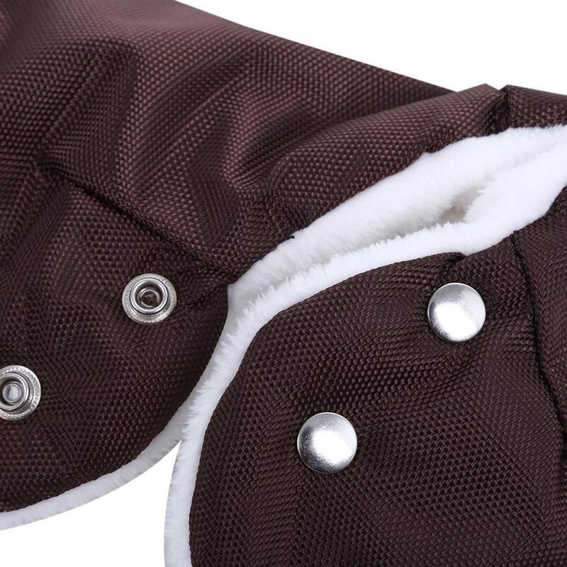 Chunky Fur Fleece Stroller Waterproof Stroller Warmer Gloves