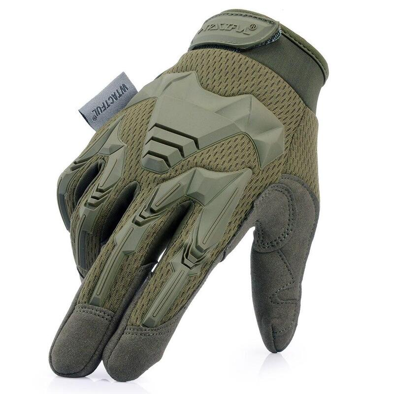 Olive Green Gloves Outdoor Work Army Military Padded Airsoft All Sizes New