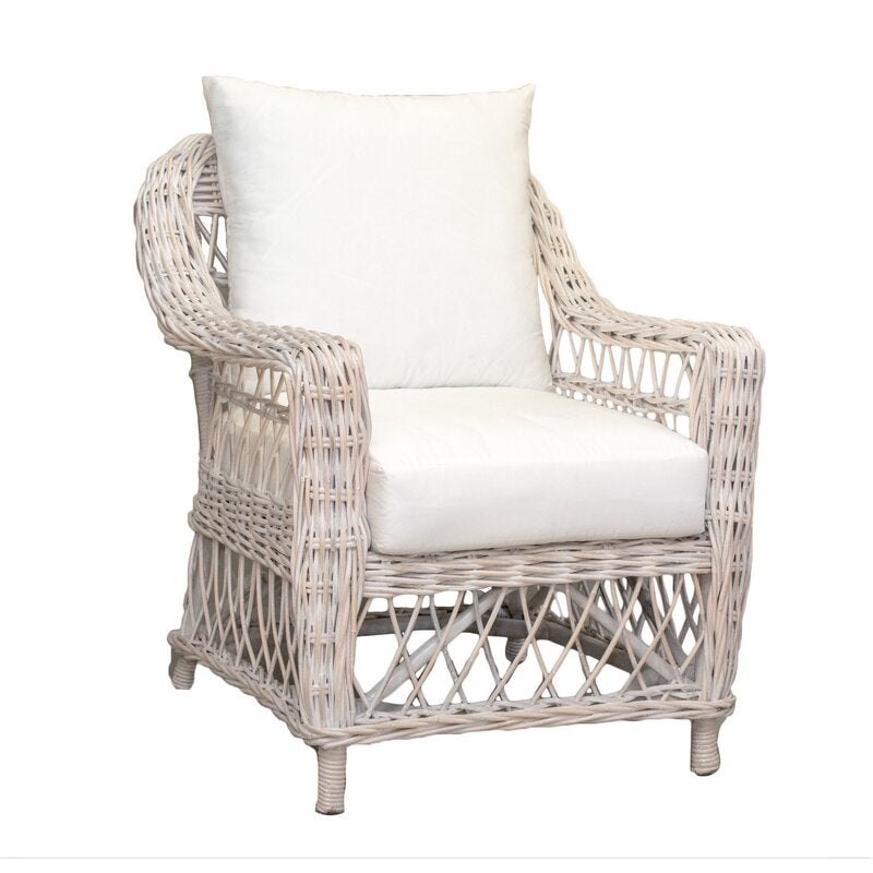 Rattan (Cane) Armchair White Washed | Buy Armchairs ...
