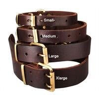 Top Quality Handmade Genuine Leather Pet Dog Collar