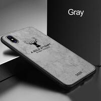 Phone Case For iPhone X XR XS MAX Ultra Slim Canvas Fabric Embossed Deer Capinhas For iPhone 8 7 6 6S Plus Soft TPU Coque Fundas