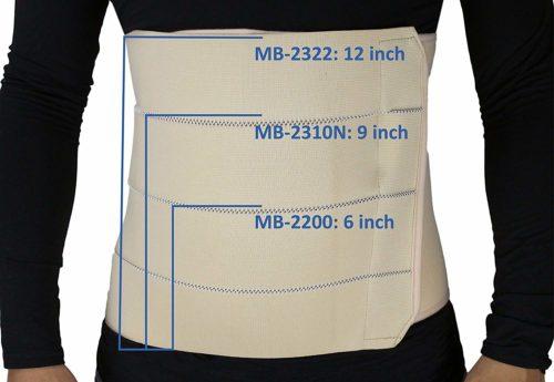 ObboMed 4-Panel Abdominal Binder Hernia Support Belt After