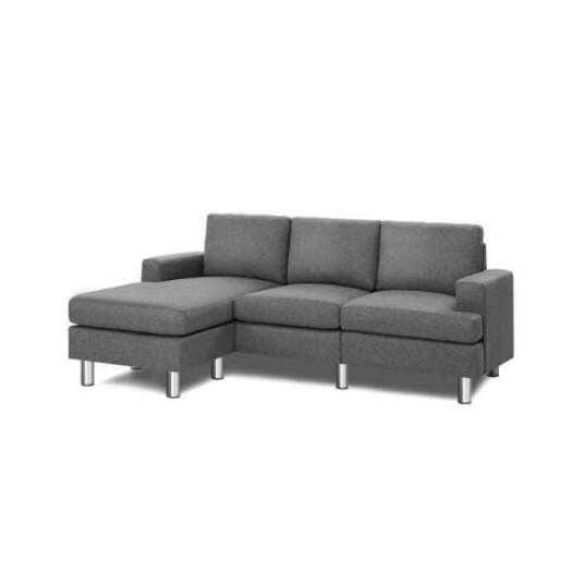Artiss Corner Chaise Fabric Light Grey Buy Sofas