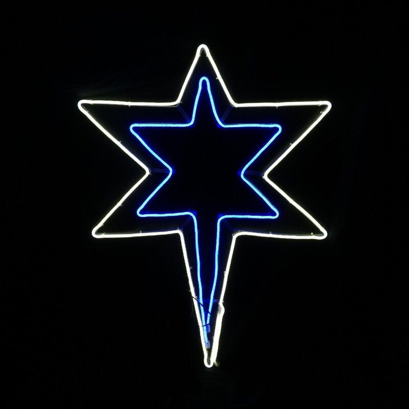 Christmas Decorations Christmas Concepts/® 55cm Blue And White LED Rope Light Christmas Star