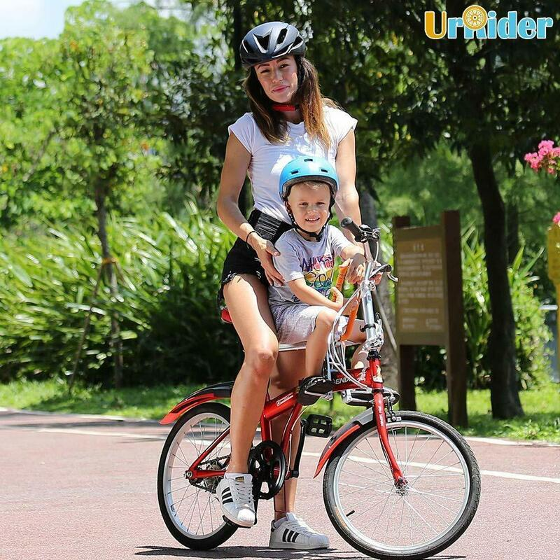 City Shared Bikes Portable UrRider Child Bike Seat Foldable Bikes Foldable /& Ultralight Kids Bicycle Carrier Baby Seat with Handrail for Cruiser Bikes