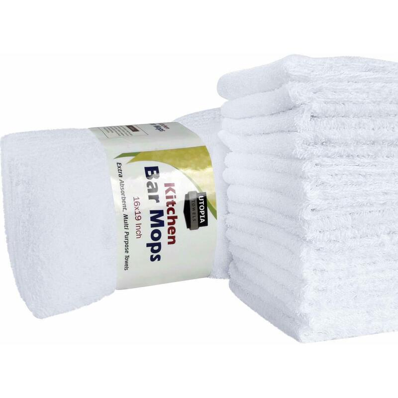 Utopia Towels Kitchen Bar Mop Cleaning Towels Pure