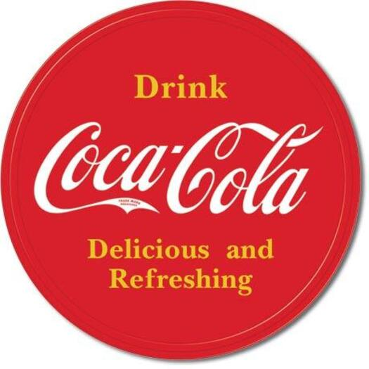 Desperate Enterprises Tin Sign Coke Button Logo Round 30 Cm Diameter Buy Signs Plaques 605279116584 Tin signs at wholesale pricing. mydeal