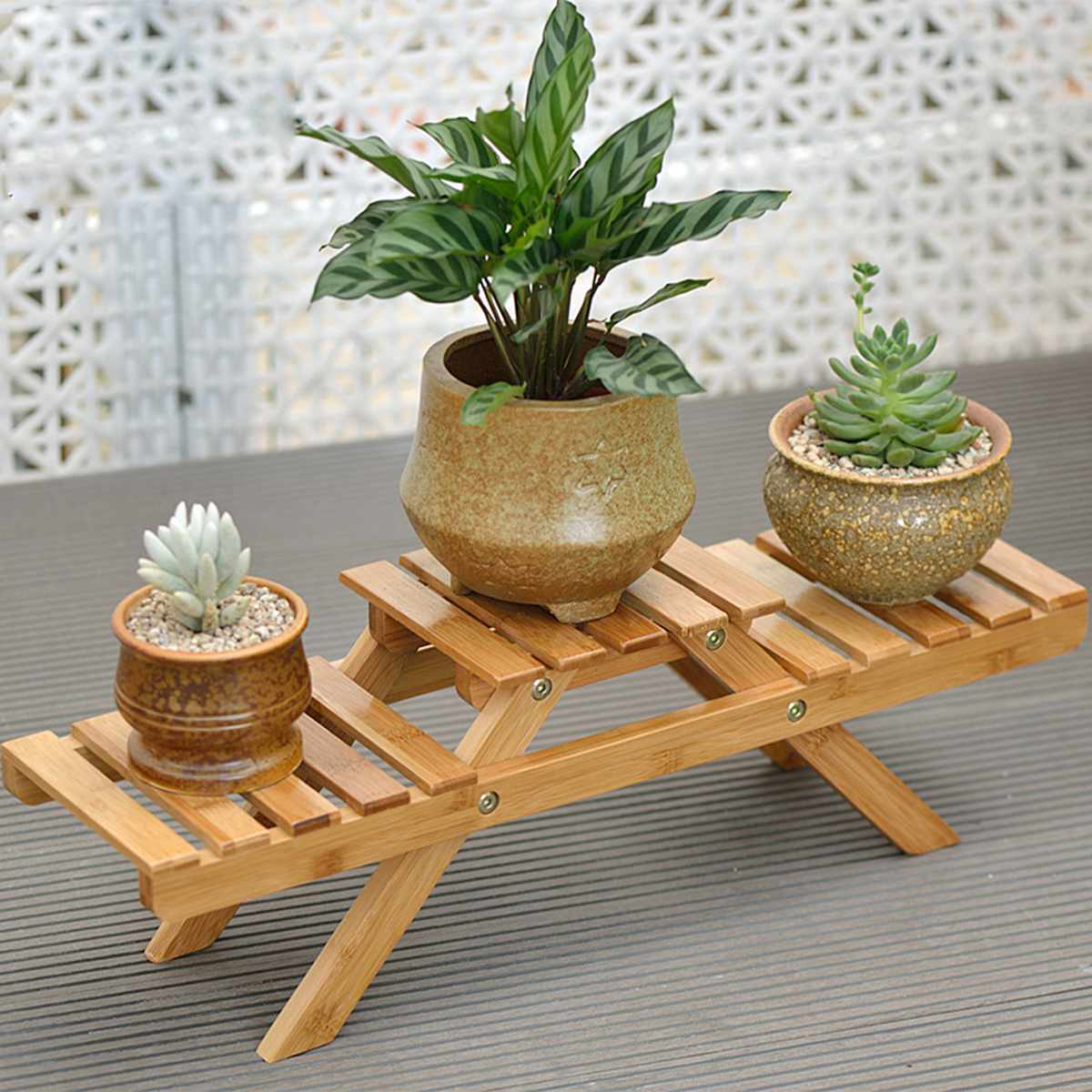 Bamboo Plant Flower Shelf Stand Indoor Or Outdoor Pot Plant Rack Holder Home Decor Buy Plant Stands 1940705