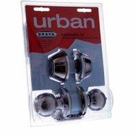 Brava BRT3332DP Urban Door Lock Combo Set Knob Deadbolt Polished Stainless Steel