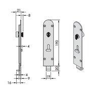Brio Flush Bolt 456REIPVDB-1 Round 190mm Inward Opening Lockable PVD Brass