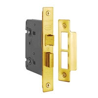 Delf Mortice Lock 2427-57-BP 57x76mm Bathroom Privacy Brass Plated