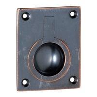Tradco 1581AC Flush Ring Pull Antique Copper 50x63mm