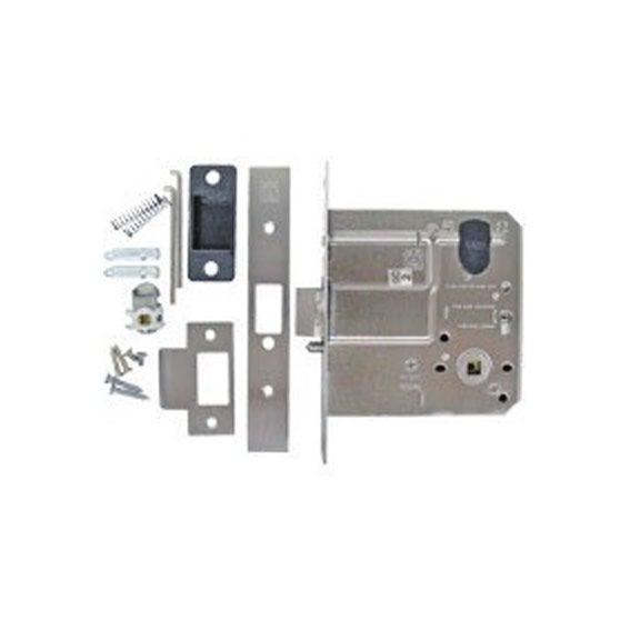 Kaba Mortice Door Lock Ms7scp 95mm Extended Backset Satin