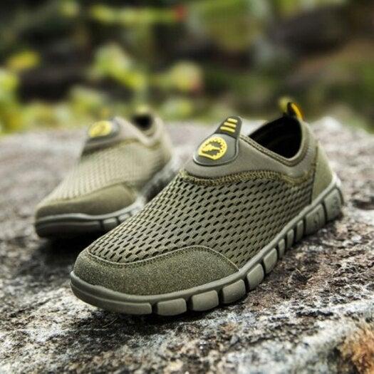 Men Breathable Mesh Outdoor Sports Shoes- Sea Green EU 45 ...