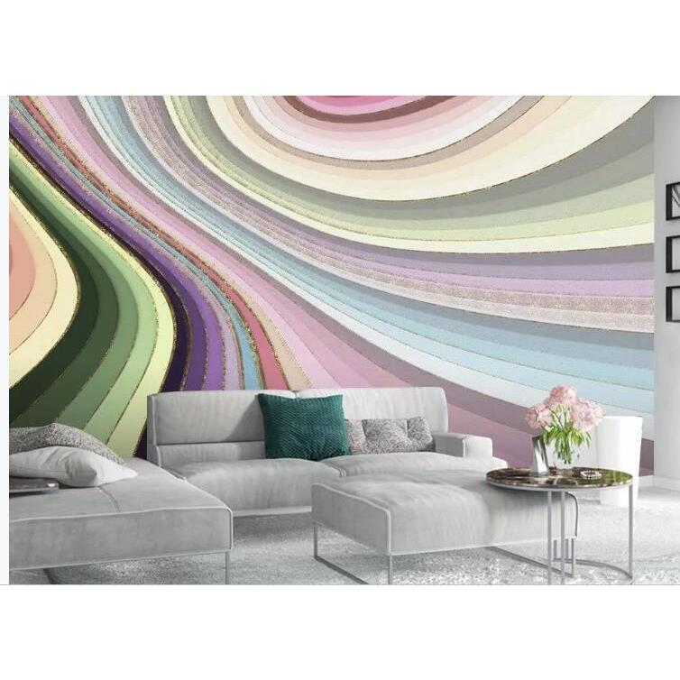 3D Nordic Style Color Abstract Geometry Wall Mural