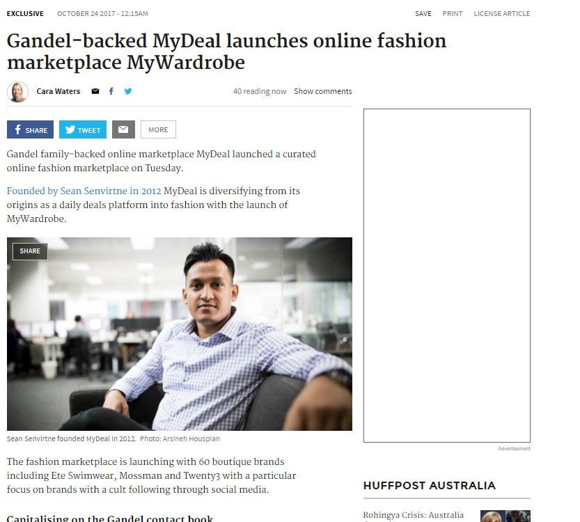 MyDeal Launches MyWardrobe
