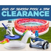 End of Season Pool & Spa Clearance
