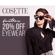 COSETTE Further 20% Off Eyewear