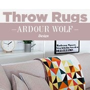Ardour Wolf Design Throw Rugs