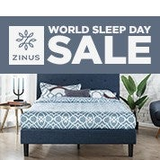 Zinus World Sleep Day Sale