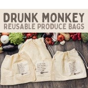 Drunk Monkey Reusable Produce Bags