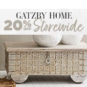 Gatzby Home 20% Off Storewide