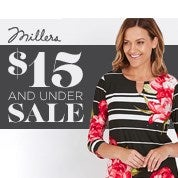 Millers $15 and Under Sale