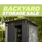 Backyard Storage Sale