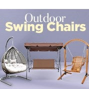 Outdoor Swing Chairs Up To 68% Off RRP