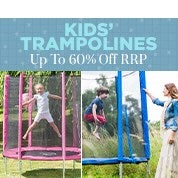 Kids' Trampolines Up To 60% Off RRP