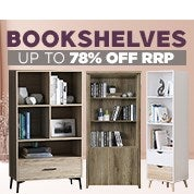 Bookshelves Up To 78% Off RRP