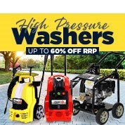 High Pressure Washers Up To 60% Off RRP
