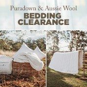 Puradown & Aussie Wool Bedding Clearance