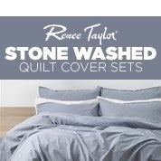 Renee Taylor Stone Washed Quilt Cover Sets