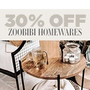 30% Off Zoobibi Homewares